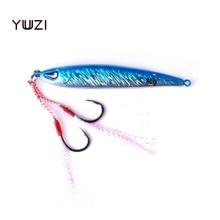 YUZI Metal Jigging Fishing Lure 80g 87mm Vertical/SpeedJigs Hard Bait Sinking Spoon Tackle for Dogtooth,Tuna