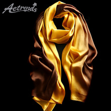 [AETRENDS] Luxury Silk Scarf Women Gradient Colors Scarves for Z-5484A