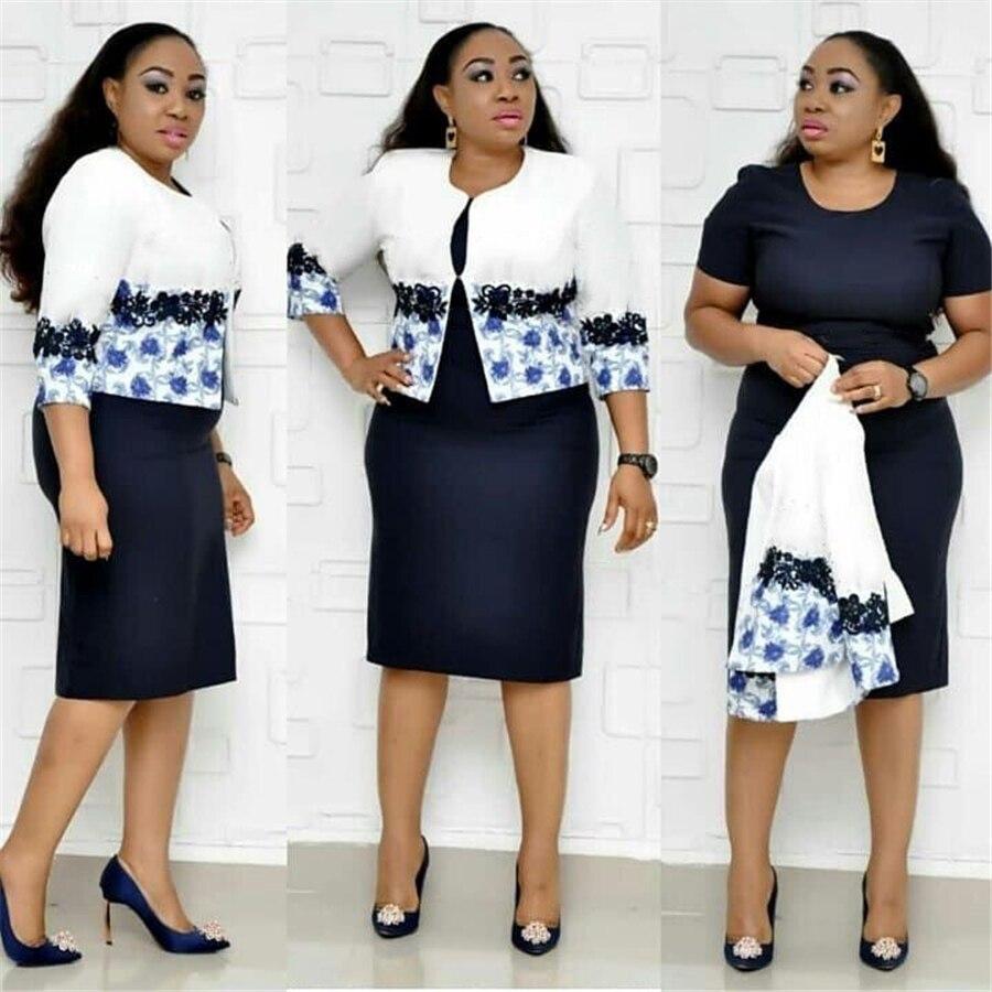 BAIBAZIN nouvelle robe d'afrique chaude pour les femmes imprimer grande taille robe de veste africaine ensemble de deux pièces