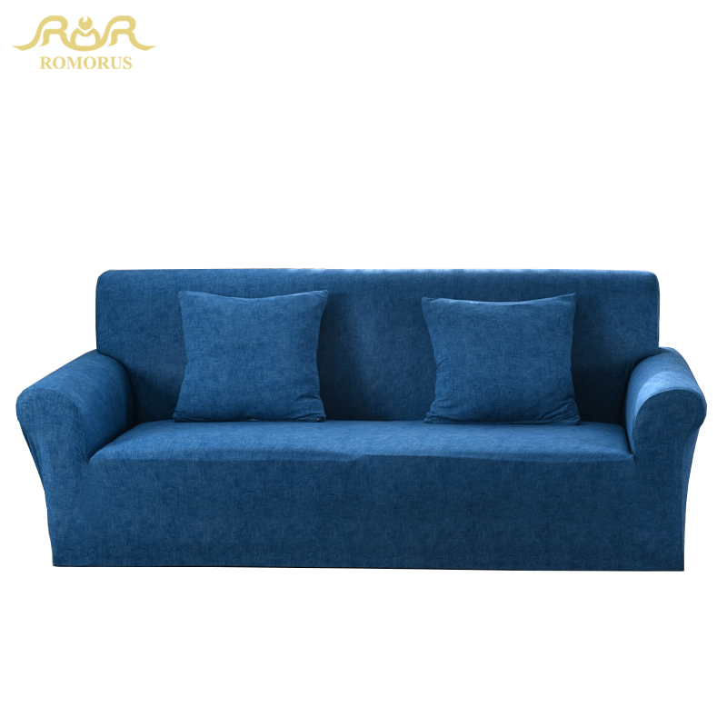 Modern Plaid Navy Blue Sofa Cover All-inclusive Elastic Stretch Fabric Couch Covers for Single Two Three Four Seater Chair Sofas