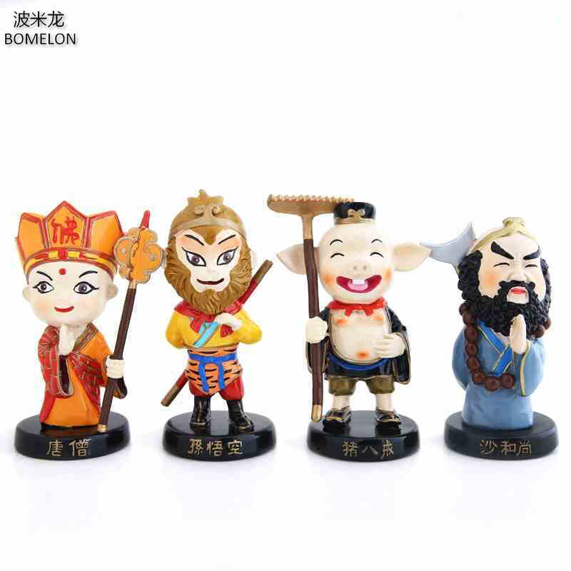 4PCS/set Journey To The West Kawaii Mini Resin Doll Tang Monk/Monkey King Anime Toy Figures China Ethnic Dolls Children Toys4PCS/set Journey To The West Kawaii Mini Resin Doll Tang Monk/Monkey King Anime Toy Figures China Ethnic Dolls Children Toys
