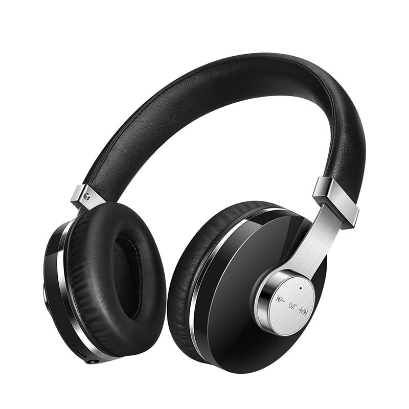 Antibruit Casque Bluetooth Casque avec Mic Basses Profondes Sans Fil Écouteurs Sur L'oreille, Confortable Protéine Coussinets