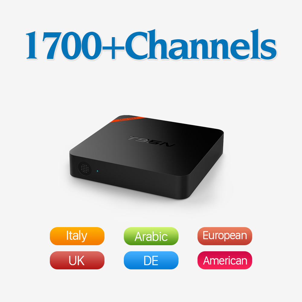 T95 Android Tv Box Arabic Europe IPTV Receiver One Year IPTV Package 1700+ French Turkish Netherlands Sport Channels IPTV TV Box iptv streaming box leadcool android wifi 1g 8g include 1700 italy portugal french receiver europe arabic channels package