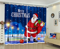 Merry Christmas Santa Claus Coming Photo High precision Shade 3D Curtain for Living Room or Hotel Drapes Cortians Gift for Home
