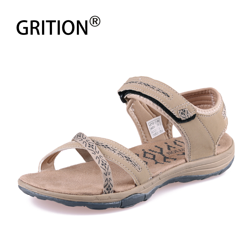 GRITION Women Sandals Slippers Shoes Female Casual Summer Flat Fashion Beach Outdoor
