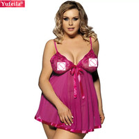 Porn Sexy Babydolls Chemises Hot Women Lingerie Sexy Erotic Costumes Dress XXXL PLUS Female Erotic Sex Lace No Padded Sleepwear