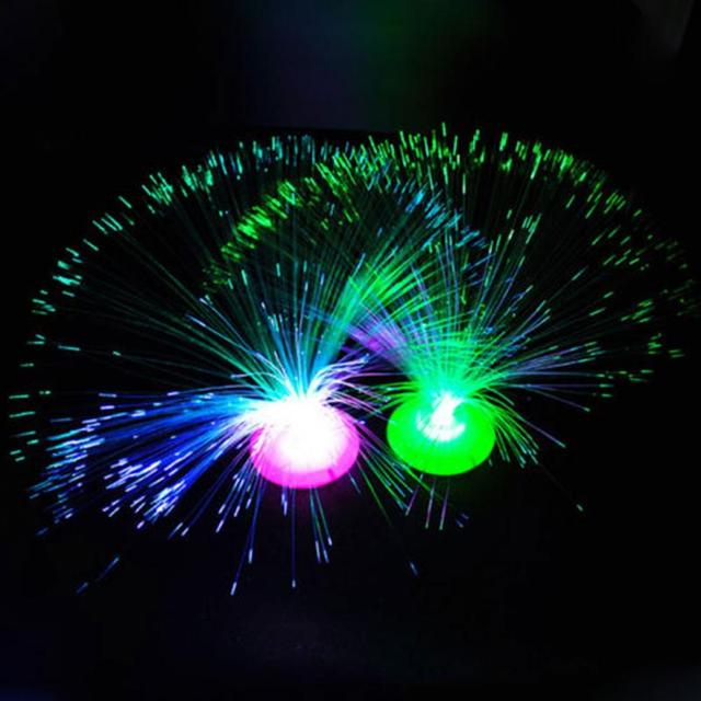 New Red Blue Green 3 Colors Change LED Fiber Optic Lantern Christmas Tree  Automatically Flash Lamp