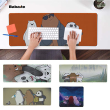 Babaite High Quality Our naked bear Office Mice Gamer Soft Mouse Pad Rubber PC Computer Gaming mousepad