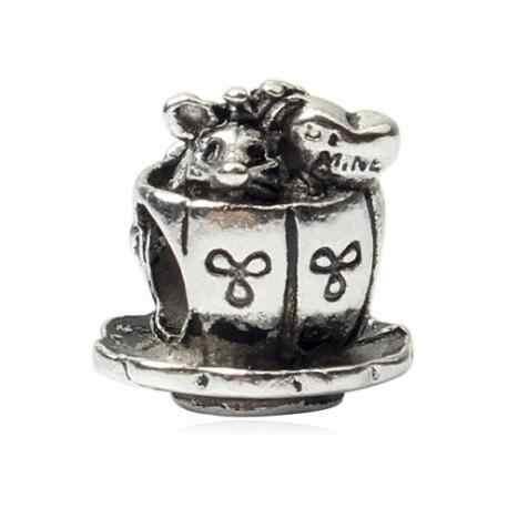 Btuamb Vintage prosty styl puchar kwiat koraliki ze stopu Fit Pandora Diy Charm bransoletki naszyjniki kobiety dokonywanie biżuteria Handmade