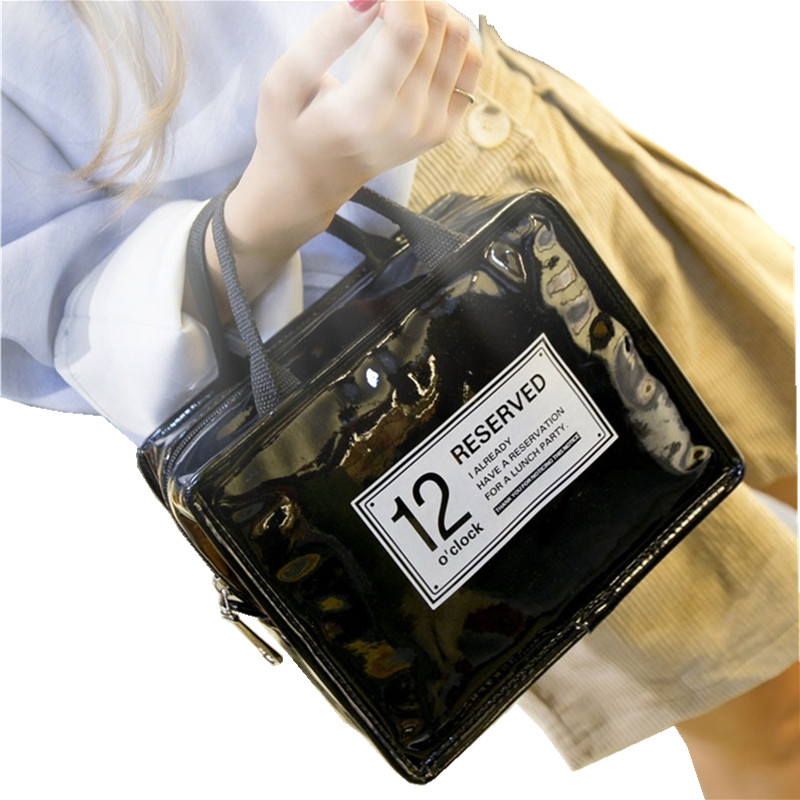RUPUTIN Waterproof PU Fresh Keeping Lunch Isolated Hand Bag Carry Thickening Food Bags Picnic Bags Thermal Insulation Tin Sheet