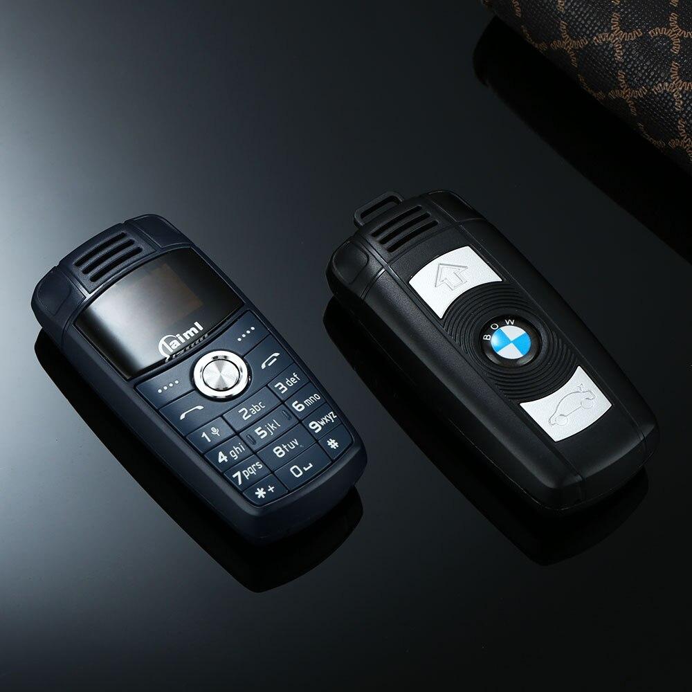 Super Mini Auto Modell BMW Schlüssel Design Handy Für Kind Dual Sim Bluetooth Zifferblatt Tiny Größe Magie Voice Changer niedrige Strahlung