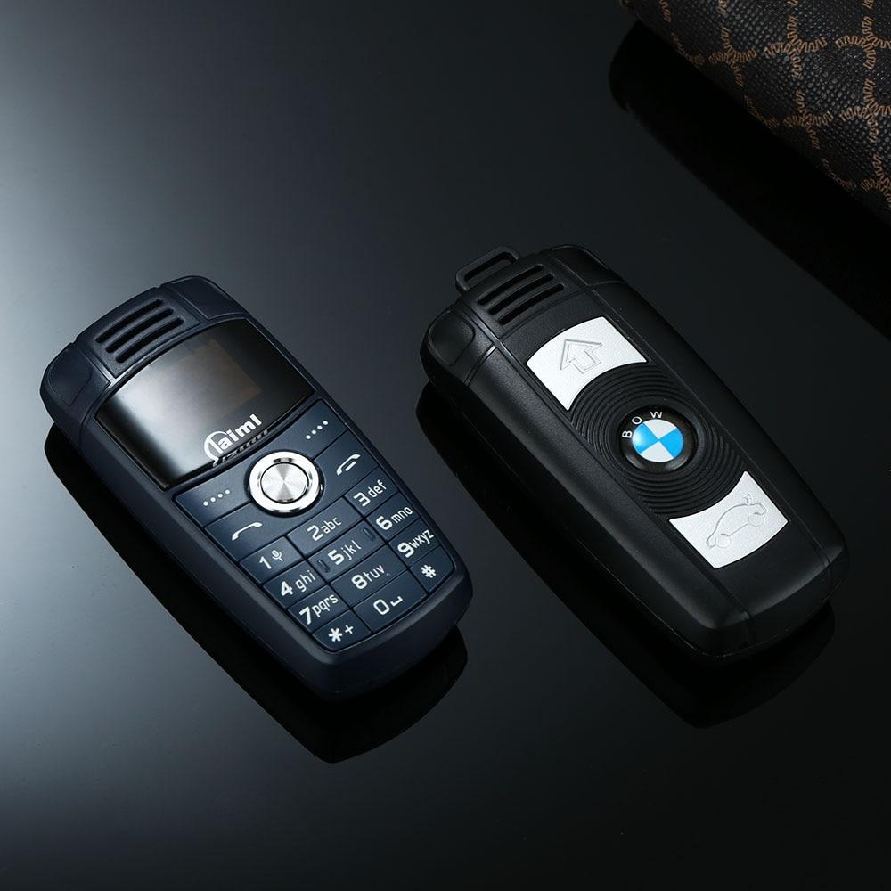 Super Mini Car Model BMW Key Design Mobile Phone For Child Dual Sim Bluetooth Dial Tiny Size Magic Voice Changer Low Radiation
