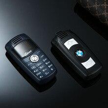 Супер мини модель автомобиля BMW ключ дизайн мобильного телефона для ребенка Dual Sim Bluetooth циферблат крошечные Размеры Magic Voice Changer low Radiation