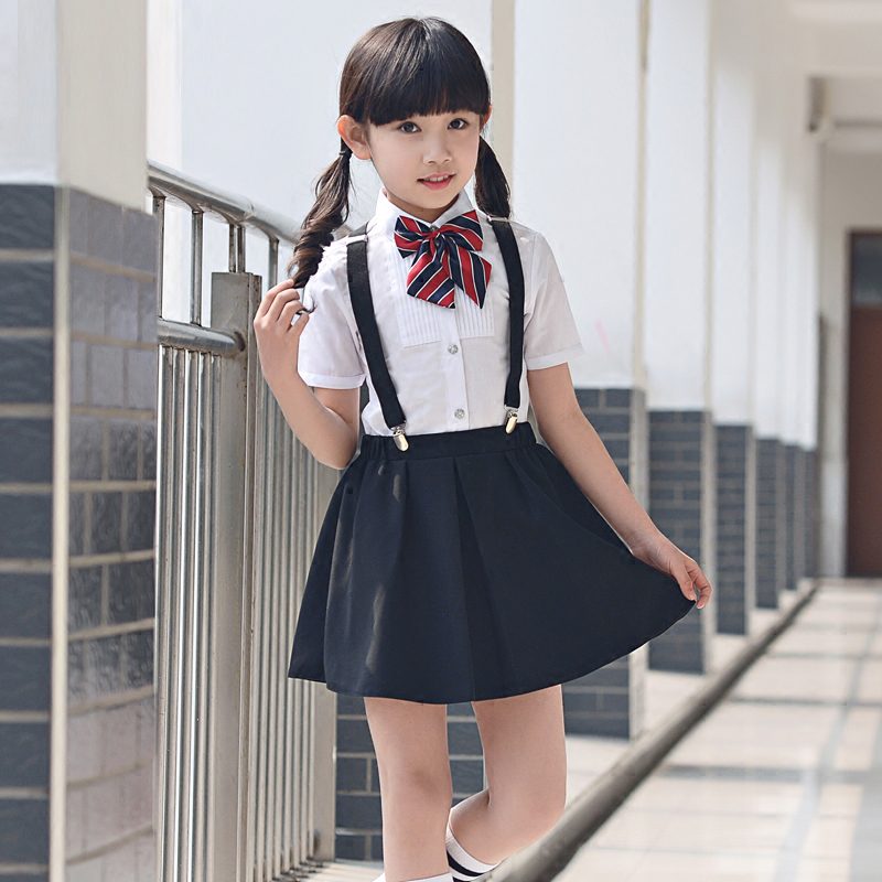 75f7f61be32 Kids Summer girls clothing set shorts shirt and skirt for girl student  chorus costume children party kids summer clothes