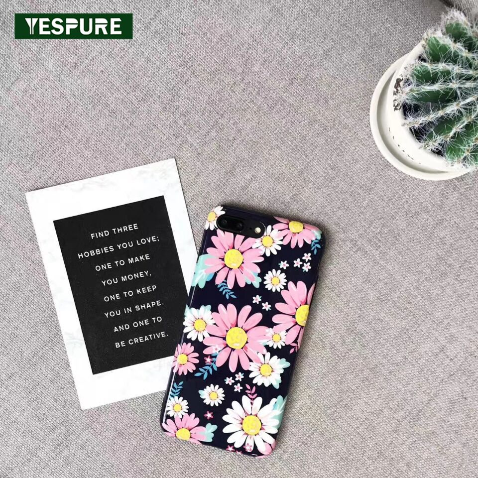 YESPURE Luxury Flower Pattern Phone Case For Iphone 6/6S Tpu Imd Fancy Mobile