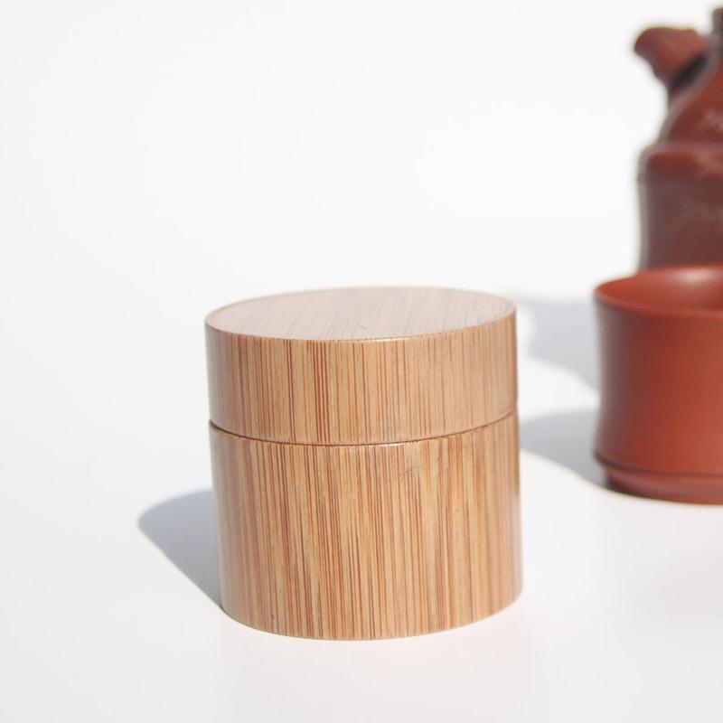 Naturale di Bambù Riutilizzabile Bottiglia di 5/10/15/20 30/50ml Cosmetici Vaso Scatola di Trucco Crema pentola di archiviazione Contenitore Rotondo Bottiglia Portatile