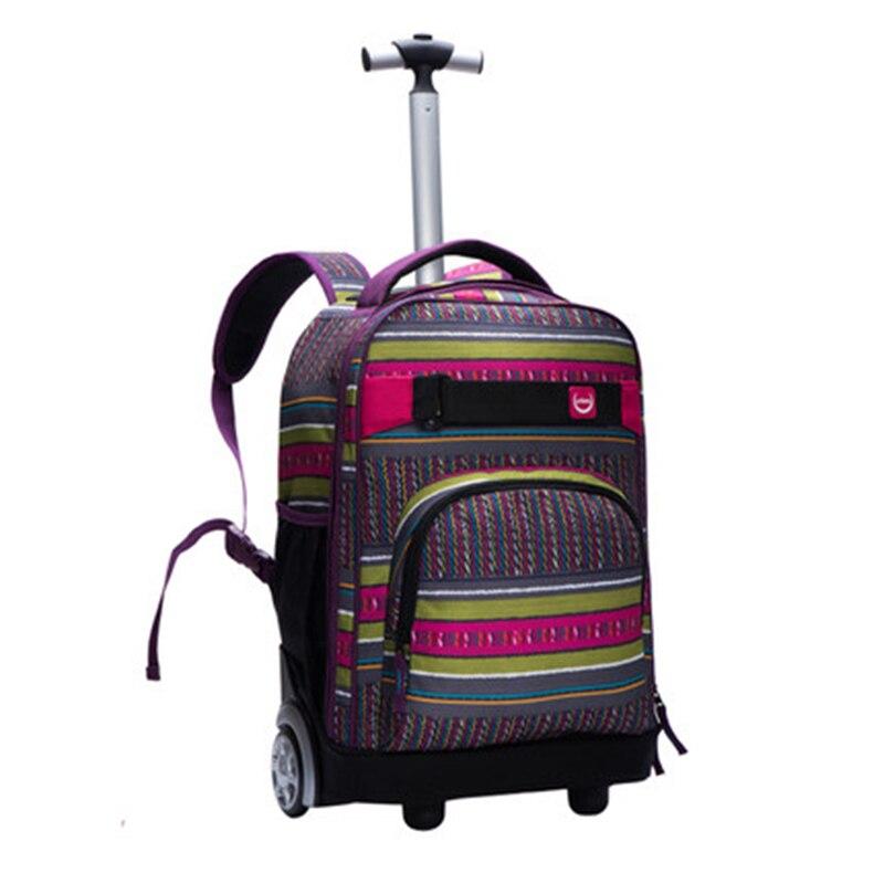 LeTrend cartable sac de voyage jeune mode valises à bagages roulantes roue cabine sacs à bandoulière multifonction sac à dos