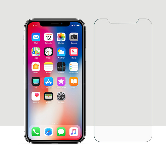 size 40 dcf11 b7ac2 US $1.89 5% OFF|Tempered Glass For iPhone x Screen Protector Film For Apple  iPhone X 10 2.5D Curved Edge Screen Anti Scratch For iPhone X 10-in Phone  ...