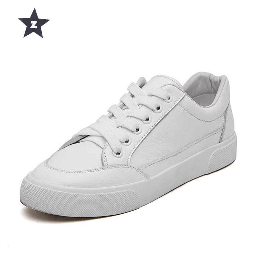 Z sport shoes sneakers fashion casual women leather shoes autumn comfortable lace up white woman tennis
