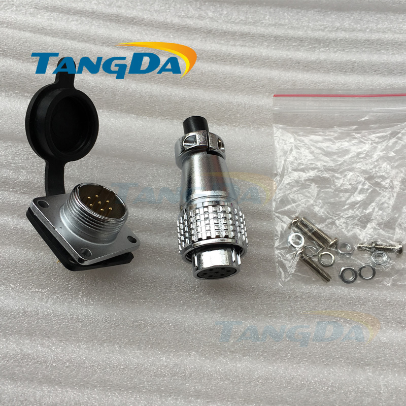 Tangda Aviation Plug connectors PLS16 P16 2 3 4 5 6 7 8 9 pin core P16mm Socket 2p 3p 4p 5p 6pin 7pin 8pin 9pin square flange A. tangda connectors servo motor plug aviation plug vw3m8122 17p 17pin 17 core ms3108b 20 29s elbow ydm30200447 a