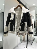 Thickening, warmth, fur, leather, coat, arms, buttons, mink fur, blouse, women's clothing.