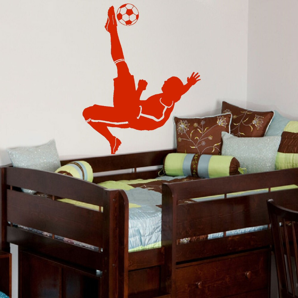Aliexpress.com : Buy Football Soccer Ball Footballer Vinyl Wall DIY Wall  Decal Poster Wall Art Children Wall Sticker Kids Room Decor From Reliable  Room ...