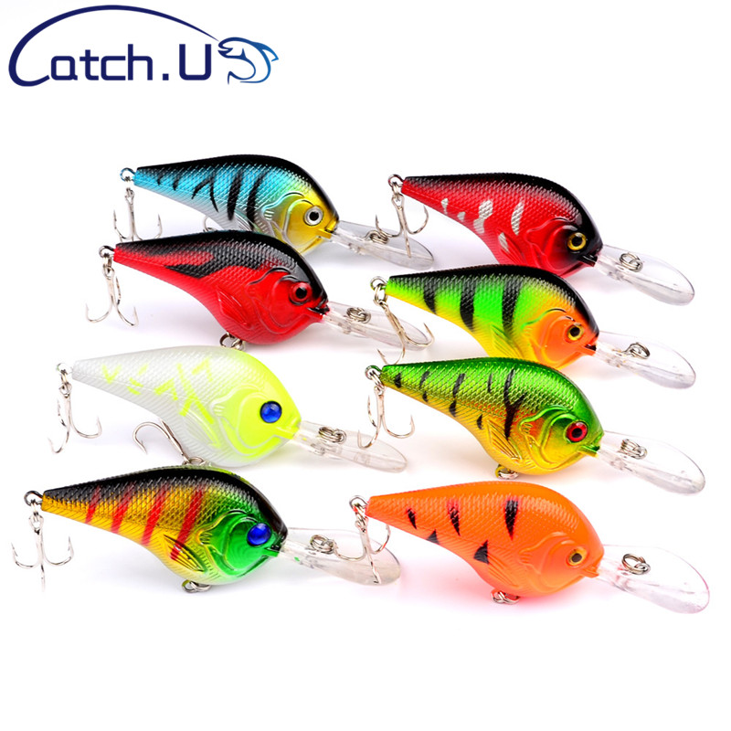 Catch.U 1Pcs Fishing Lure Bait 11.2g Artificial Crankbaits Seawater Bait Deep Diving Crankbait Fishing Lures