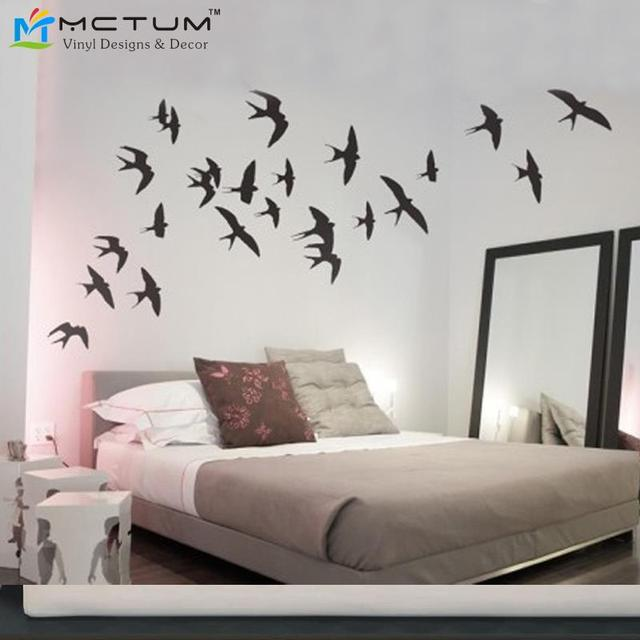 Creatively Swallows Vinyl Wall Art Sticker Diy Decals Removable Bedroom Sofa Stickers Birds Decorations Home