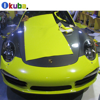 Fluorescence Yellow Green Rose Red Reflective Full Body Car Sticker Foil for Car Wrap Film 1.52*20m/roll