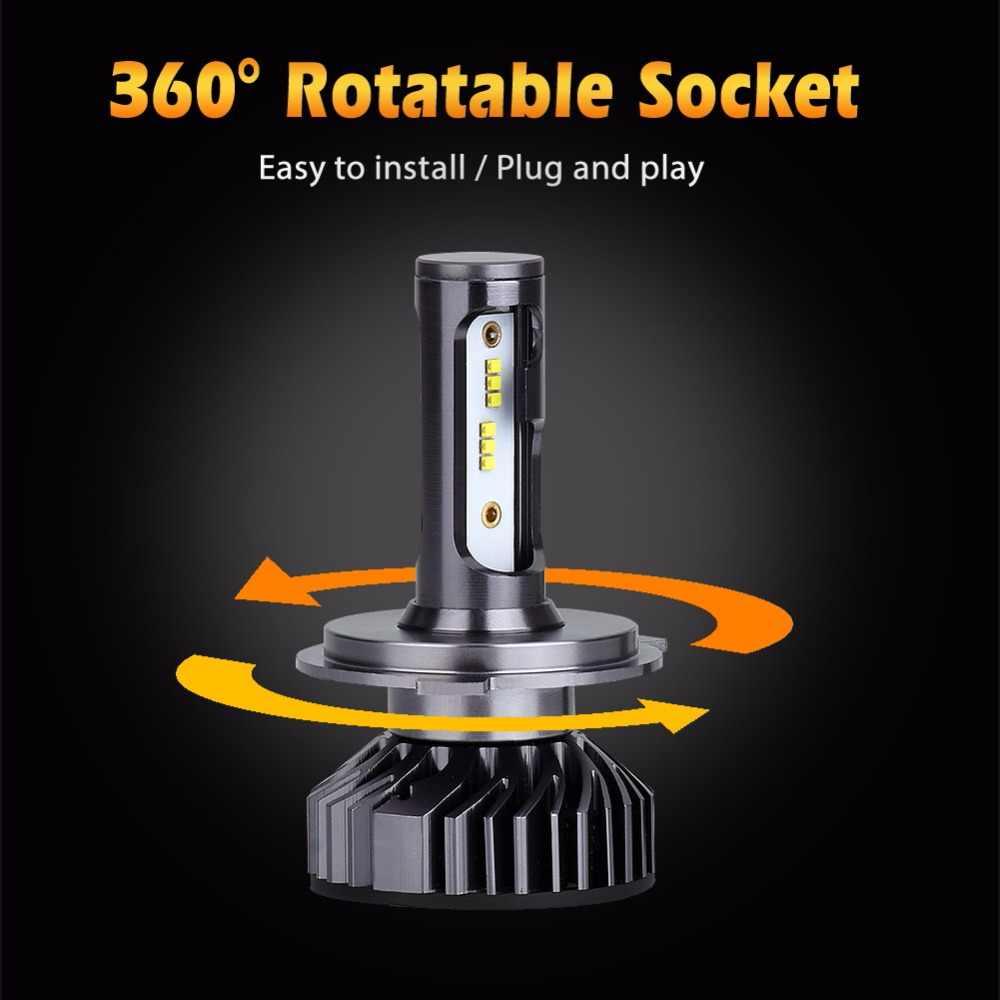 Infitary H7 Led Headlight Bulb H4 LED H1 H3 H8 H11 9005 HB3 9006 HB4 9007 ZES Chips 8000LM 6500K 12V 24V Auto Fog Light Car Lamp