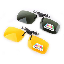 Polarized Clip On Sunglasses Driving Night Vision Lens Sun Glasses Male Anti-UVA UVB For Men Women With Case & Glasses Cloth