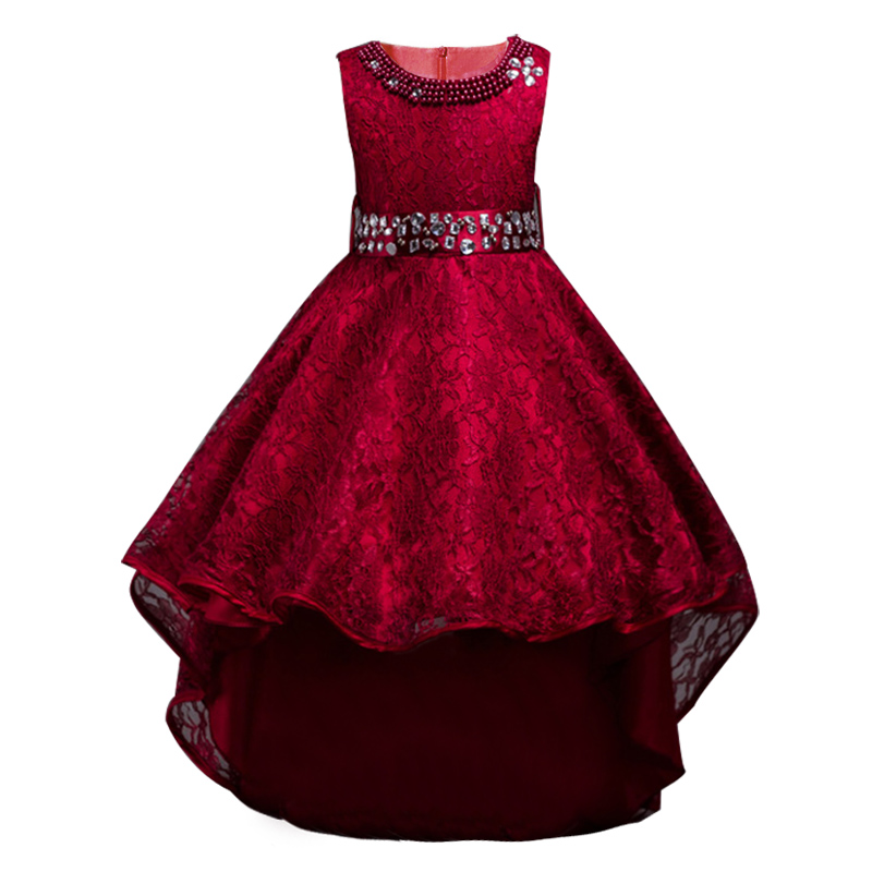 Літні діти сукні для дівчаток весільну сукню елегантний без рукавів дівчата одяг формальний одяг принцеса партія малюк плаття Vestidos  t