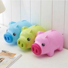 Мультфильм свинья копилка любителей ребенок подарок пластиковые копилки украшения копилка симпатичные деньги могут