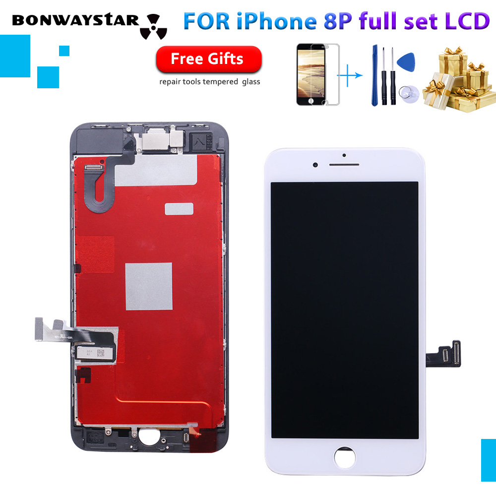 For iPhone 8 Plus 8p LCD Display Touch Screen Full Set Digitizer Replacement Assembly LCD Phone Parts with free ship GiftsFor iPhone 8 Plus 8p LCD Display Touch Screen Full Set Digitizer Replacement Assembly LCD Phone Parts with free ship Gifts