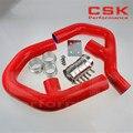Турбо силиконовый интеркулер шланг для VW GOLF MK5 MKV GTI 2 0 FSi T 06-09 + Зажимы Красный