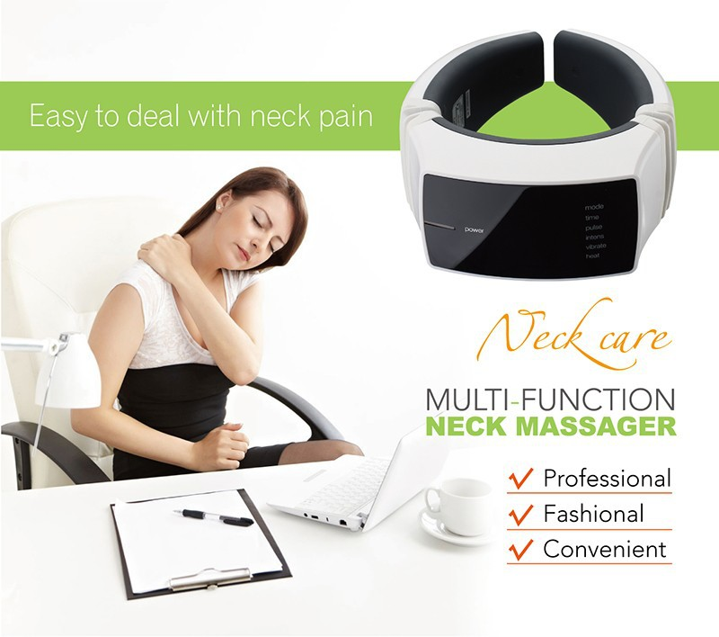 KIKI Beauty World.Wireless Remote Control Neck massager health care product Cervical therapy instrument massage tools 4