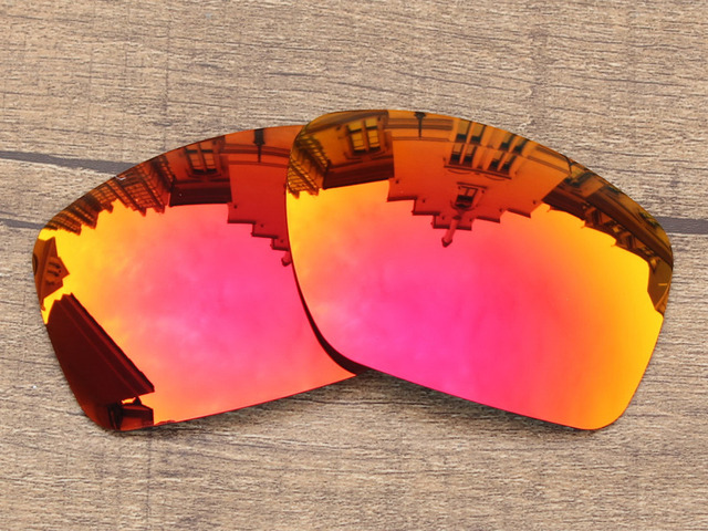 Polycarbonate-Fire Red Mirror Replacement Lenses For Big Taco Sunglasses Frame 100% UVA & UVB Protection
