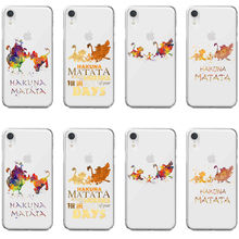 Watercolor Art Lion King Pumba Hakuna Matata Soft TPU Silicone Cover Phone Case for iPhone 11Pro MAX SE 5 6 6S 7 8Plus XR XS