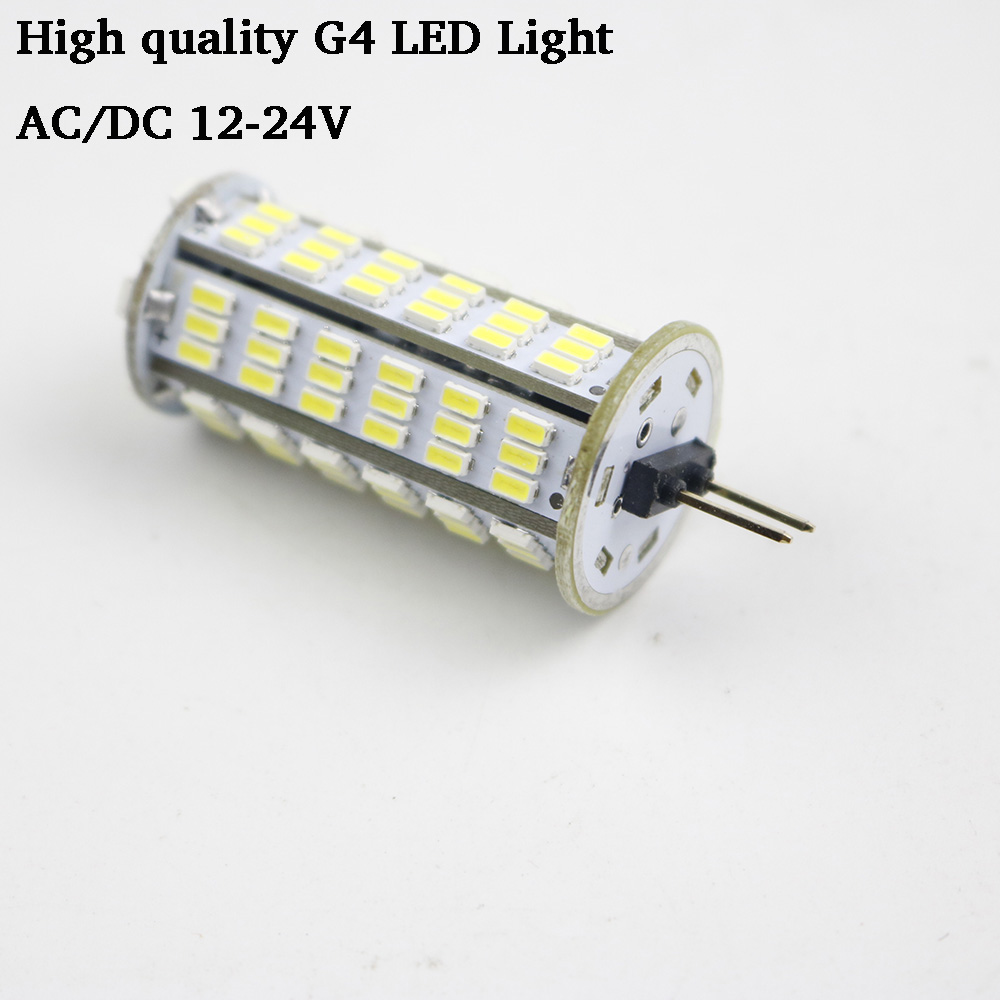 G4 LED Bulb Lamp 126 LED 3014 SMD 4W LED Cold Warm White AC/DC 12V 24V Lamps Light replace Halogen Spotlight Chandelier 1PCS g24 6w 550lm 3000k 55 3014 smd led bulb warm white light bulb white silver ac 85 265v