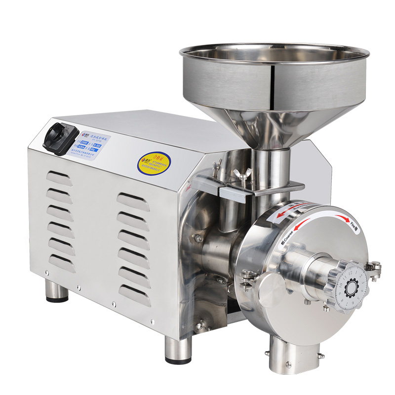 220V 25Kg/h Electric Commercial Grain Grinder Stainless Steel Chinese Medicine Herb Spice  Corn Soybean Grinding Machine dmwd 200w household electric mini grinder for grain chinese medicine coffee bean seasoning stainless steel blade powder maker