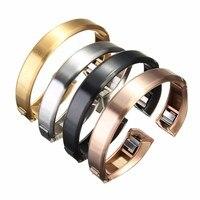 Pulseira De Relógio de Aço Inoxidável do Metal do Ouro de luxo Excelente Pulseira Para Fitbit Alta Rastreador Relógio Acessórios