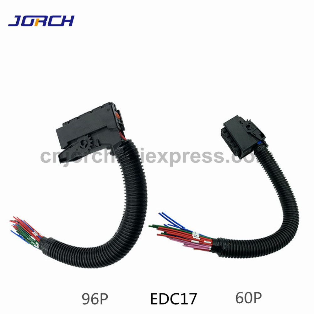 1 set EDC17 Automotive 94Pin <font><b>60Pin</b></font> ECU Plug PC Board Socket With Wiring Harness Common Rail <font><b>Connector</b></font> For Bosch image