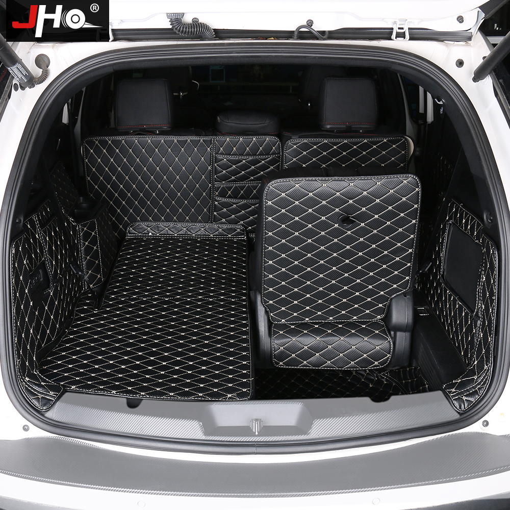 JHO Car Accessories Trunk Cargo Liner Non-slip Protective Cover Mats For Ford Explorer 2011-19 12 2013 2014 2015 2016 2017 2018