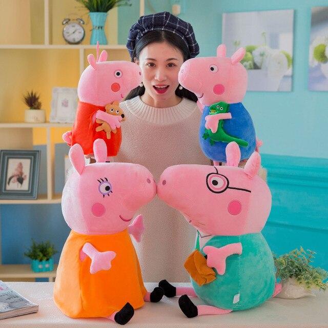 Atacado 4 pcs Pacote Brinquedos Porco Peppa Pig George Família Brinquedos de Pelúcia Bichos de pelúcia Brinquedos de Pelúcia para As Crianças 2P23