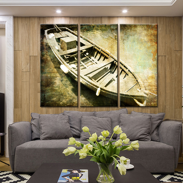 Canvas Paintings Framework HD Prints Bedroom Wall Art 3 Pieces ...