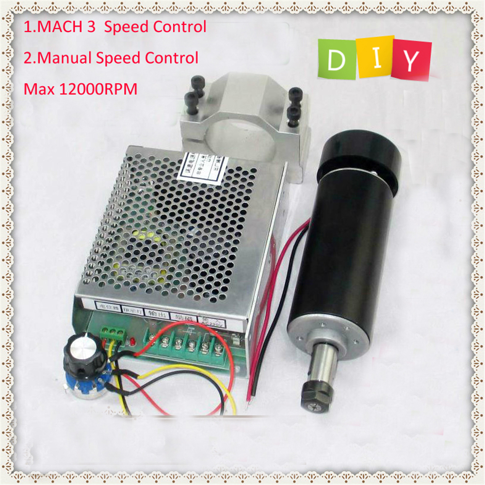 цена на New Mach3 Power Governor+Spindle Motor 500W 100VDC 0.55NM Natural-Cooled ER11 CNC DIY PCB 1Year Warranty Free Technical Support