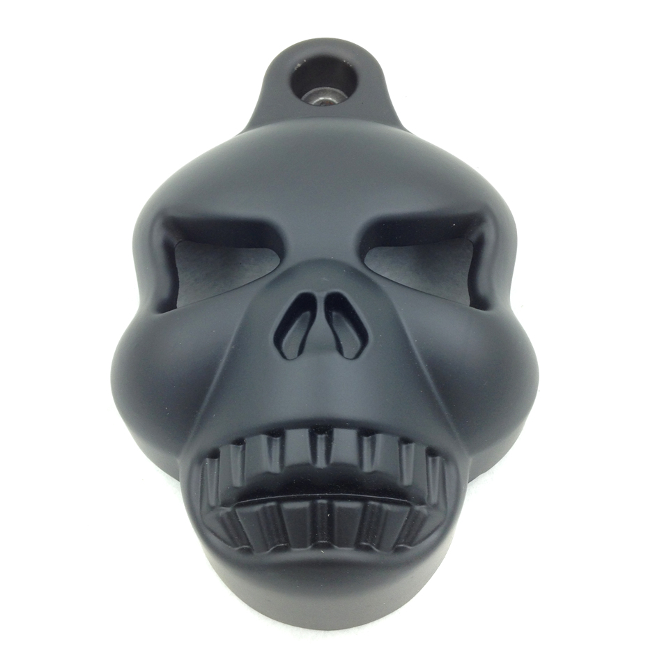 Free Shipping Motorcycle Parts  Black Skull Horn Cover for   Harley Davidson Big Twins V-Rods Stock Cowbell Horns 1992-2013BLACK scooter parts 8pcs chrome speedometer gauges bezels and horn cover case for harley davidson touring free shipping