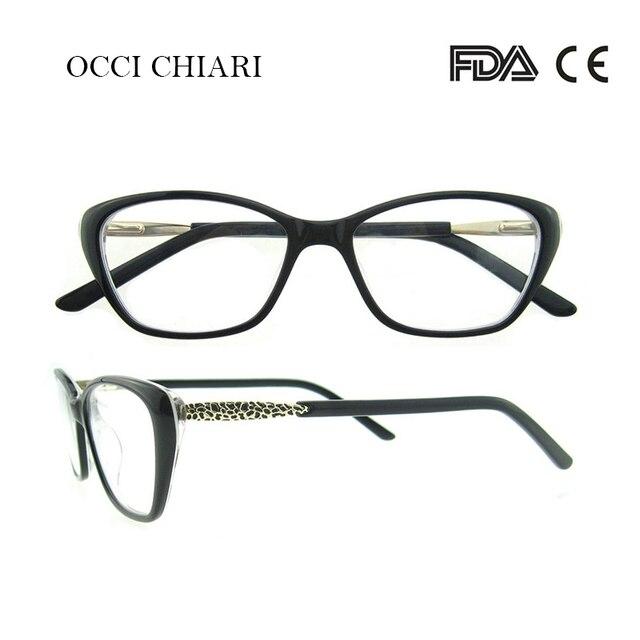 ef188cf0f12d OCCI CHIARI Acetate Prescription Clear Computer Glasses Frame Nerd Lens Medical  Optical Eyewear Oculos Lunettes Gafas BETTI