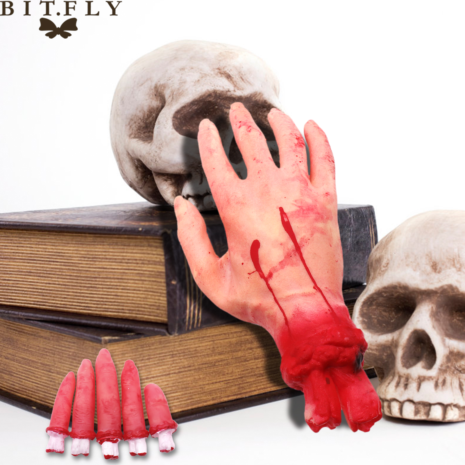 Halloween Bloody Hand Haunted House Party Decoration Horror Props
