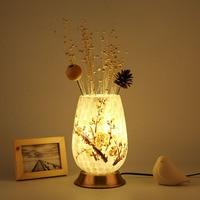 Творческий Ретро американский Стекло настольная лампа Спальня ночники Книги по искусству декоративные светильники настольная лампа для С...